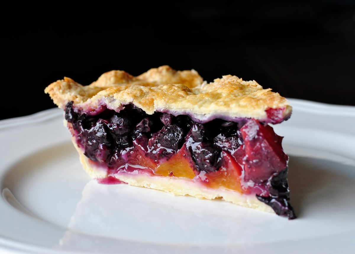 This Week S Breakfast Blueberry Peach Pie No Thyme To Waste