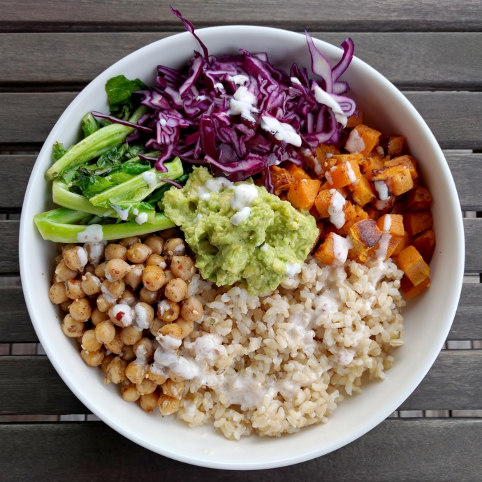 vegetarian rice bowl